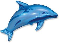 "Blue Dolphin 37"" Supershape Foil Balloon Ocean Sea Animal Big Party Decorations"