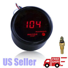 "Car Black 2"" 52mm Red Digital LED Water Temp Temperature Gauge-°F"