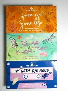 Essence Eyeshadow Palettes Set of 3  I'm With the Band, Fairy Wings, Spice Up 48
