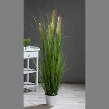 Palmengras-Busch 170cm im weißen Topf DP Kunstpflanzen künstliche Pflanzen Gras