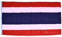 THAILAND FLAG - NEW 5x3' FT - LARGE THAI 100% POLYESTER WITH EYELETS