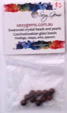 CLEARANCE - 20 x 5mm Round Swarovski Bordeaux Crystal Pearl F33