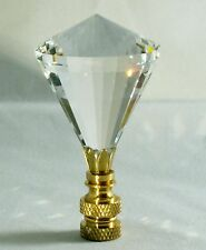 LAMP FINIAL-STUNNING LEADED CRYSTAL LAMP FINIAL-CLEAR DIAMOND