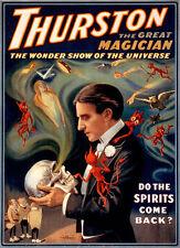 Thurston magicien vintage poster fantastique (B)