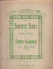 Synthetic Series of Piano Pieces, Florence Goodrich, Part 2, 1907
