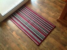Machine Washable Anti Slip Striped Mat Soft Non Shed Runner Doormat Kitchen Hall
