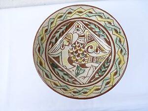 VINTAGE  OLD  BULGARIAN STYLE Ceramic PLATE