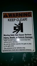 Keep Clear Electric Gate Sign