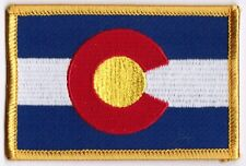 Colorado State Flag Patch Embroidered Iron On Applique