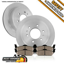 Rear 348 mm OE Brake Disc Rotors And Ceramic Pads Kit 2012 2013 2014 Ford F150