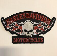 Harley Davidson Patch Aufnäher Skull Biker Motorrad Patches Set Aufbügler Groß