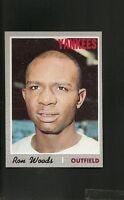 1970 Topps # 253 Ron Woods Ex-Mt