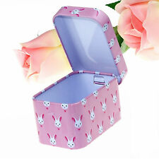 Mini Rabbit Metal Jewelry Box Organizer Tea Candy Tin Box Storage Kids Gift Case
