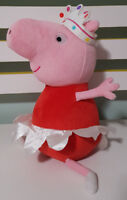 PRINCESS PEPPA PIG CHARACTER PLUSH TOY! SOFT TOY ABOUT 24CM SEATED KIDS TOY!