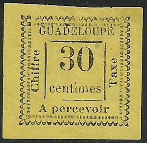 Guadeloupe - Timbre-Taxe - N° 10 Neuf sans gomme. Signé.