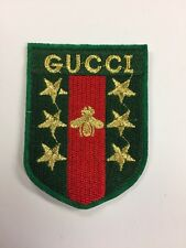 Gucci Iron On Patch Stars Stripes Blind Love Bumble Bee