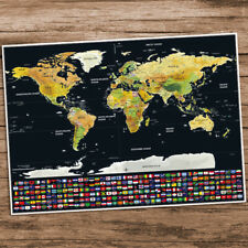 Scratchable World Map Travel Waterproof Poster Scratch Off Travel Planning
