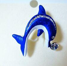 Delfin Pin/Brooch Rucinni with Swarovski Crystals.