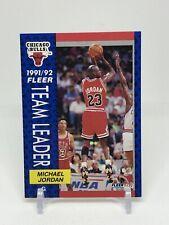Michael Jordan Fleer 1992 #375 Team Leader Chicago Bulls