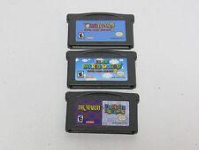 Game Boy Advance Super Mario World 2, Yoshi's Island, Dr Mario and Puzzle League