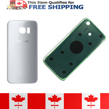 Samsung Galaxy S7 Silver Glass Battery Door Replacement Cover