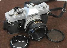 Canon Ftb Ql 35mm Slr Film Camera with Canon 50mm 1:1.8 Classsic Blk and Alum