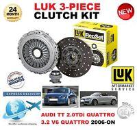 FOR AUDI TT 8J3 8J9 2.0 TDi 3.2 V6 QUATTRO 2006-ON CLUTCH KIT LUK 3 PIECE 240mm