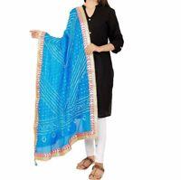 Dupatta Women Bandhani Art Silk Bandhej Indian Scarf Party Wear Stole Free Ship