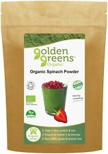 Golden Greens Organic Spinach Powder 200g - 100% Pure - Certified Organic