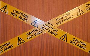 Prank barrier tape  x 5m - CAUTION WET PAINT