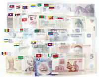 51 Pcs Paper Money Banknotes Collections From 24 Countries World No Repeat UNC