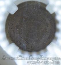 Azores 10 Reis 1865 AU Details NGC bronze KM#14 Unusual Shattered Die