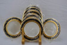 Noritake Opulence New with Tags Thick Gold Set of 7 Dessert Bread Butter Plates