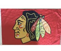 Chicago Blackhawks NHL 3X5 Indoor Outdoor Banner Flag w/ grommets for hanging