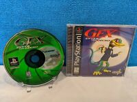 Gex: Enter the Gecko (Sony PlayStation 1, 1998) with Manual - Tested & Working