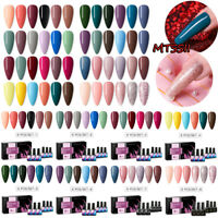 MTSSII 6 Bottles Combo Set UV Gel Nail Polish Soak Off Varnish Glitter Nail Art