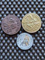 Vintage Nintendo Super Mario Land Lucky World Coin token medal LOT3 Rare Promo