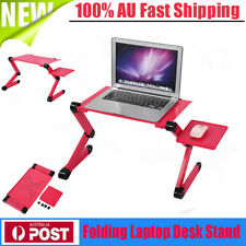 New Folding Laptop Desk Adjustable Computer Table Stand Tray Bed Sofa Table AU