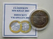 Finland 5 Euro 2003 Ice Hockey World Championships UNC Condition+COA  !!!!
