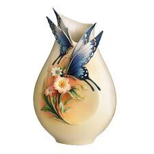 """FZ01839 Franz Porcelain 6"""" Vase Fluttering Beauty Hand Made"""