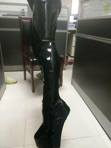 Hoof Heelless Wedge Thigh High Boots Women Zipper Platform Heeled Custom Big