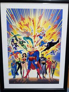 Guardians of Justice LE Lithograph #'d to 500-Batman,Superman,Wonder Woman,Flash