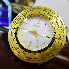 BREGUET FINE & VERY RARE GILT WORLD TIME DESK CLOCK WITH EIGHT DAY POWER RESERVE