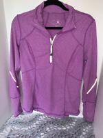 Tangerine Women's purple Small 1/4Zip up Jacket Workout Active wear w/reflective