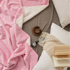 Air Conditioning Blanket Throws Double Layers Velvet Blanket Thin for Spring New