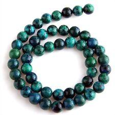45-50 Stueck 8 mm Zusammengesetzter Edelstein smaragdgruene Malachit Perle  GY