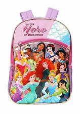 Disney Princess Story All Characters Backpack Girls School Book Bag Gift Toy Kid