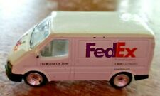 FEDEX EXPRESS DIECAST METAL DELIVERY TRANSIT VAN MODEL REPLICA 1:64 SCALE GOLDEN