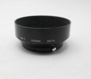 Nikon / Nikkor HS-1 50mm Metal lens hood Japan made Very Nice