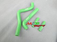 For Kawasaki KX125 99 00 01 02 1999 2000 2001 2002 silicone radiator hose green